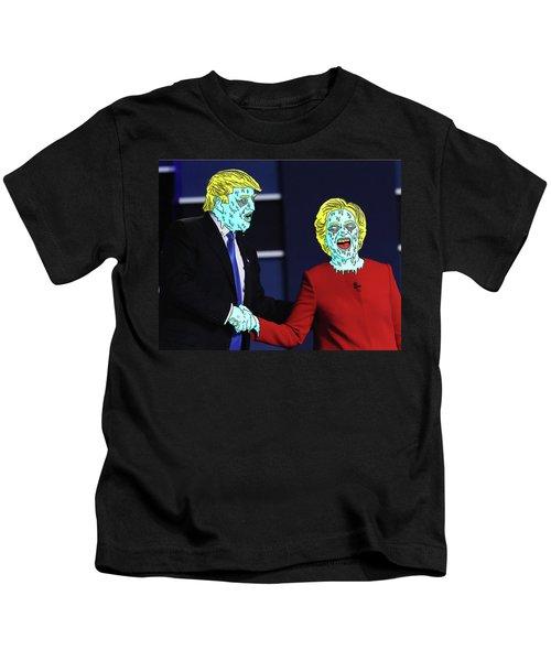Running Down The Same Cloth. Kids T-Shirt