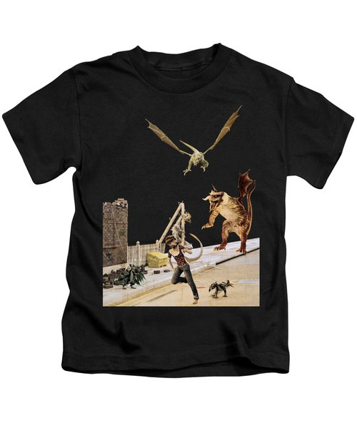 Running From My Problems Kids T-Shirt
