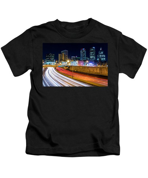 Rush Hour In Hartford, Ct Kids T-Shirt