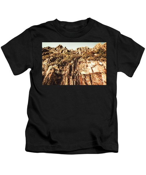 Rustic Cliff Spring Kids T-Shirt