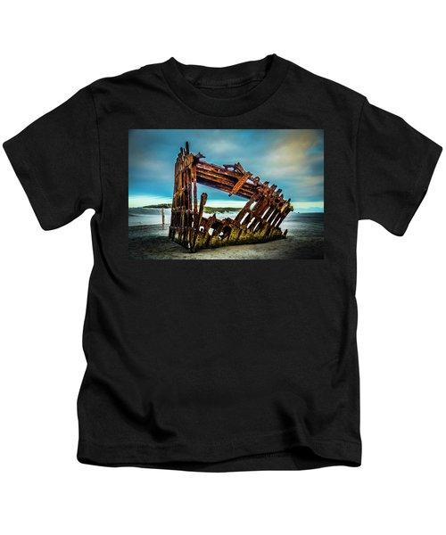 Rusty Forgotten Shipwreck Kids T-Shirt