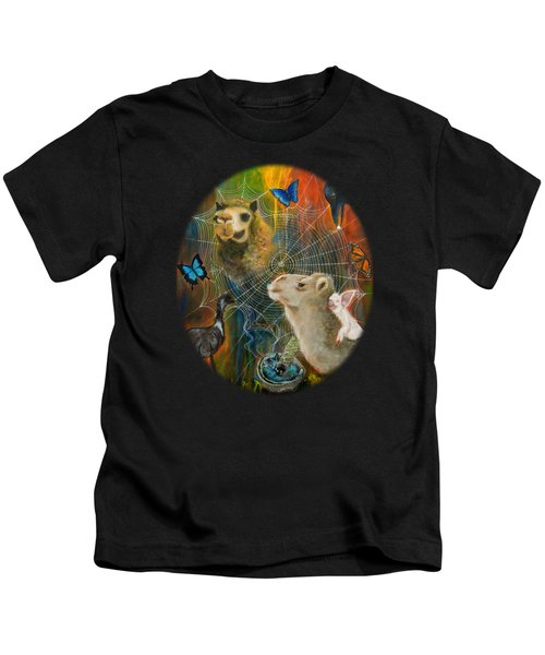 Sacred Journey Kids T-Shirt by Deborha Kerr
