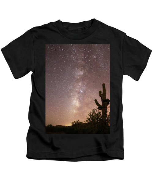 Saguaro Cactus And Milky Way Kids T-Shirt