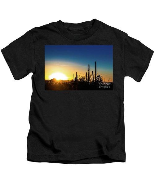 Saguaro Sunset Kids T-Shirt