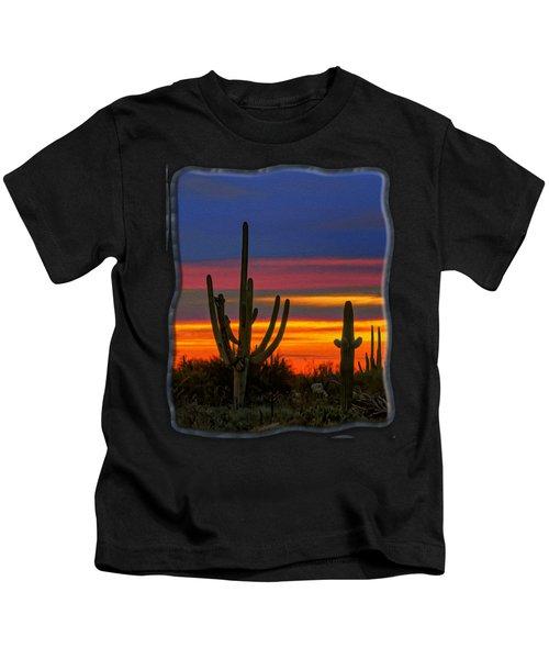 Saguaro Sunset V31 Kids T-Shirt