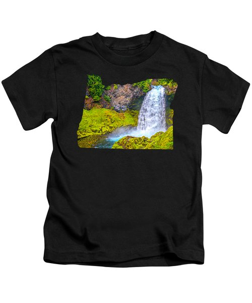 Sahalie Falls Oregon Kids T-Shirt