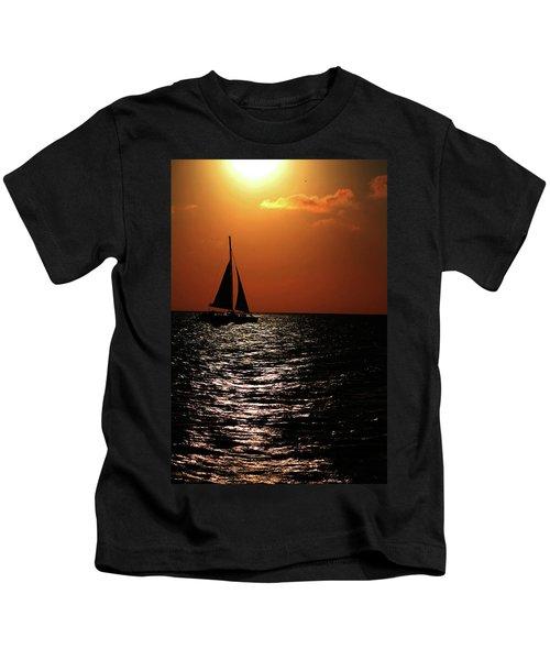 Sailing Into The Sunset Kids T-Shirt