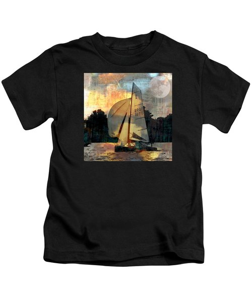 Sailing Into The Sunset Kids T-Shirt