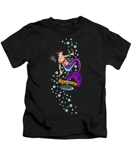 Sailor Beware Kids T-Shirt by Tracy Dixon