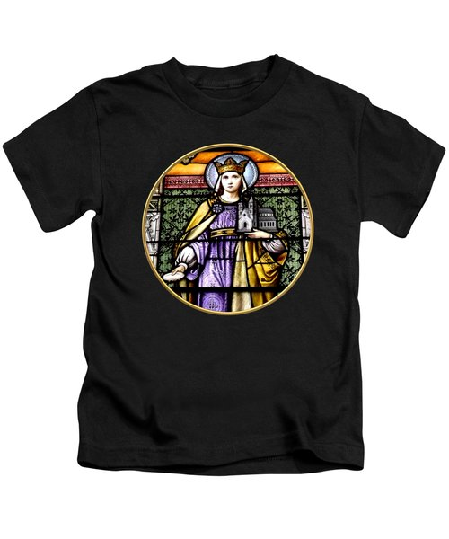 Saint Adelaide Stained Glass Window In The Round Kids T-Shirt