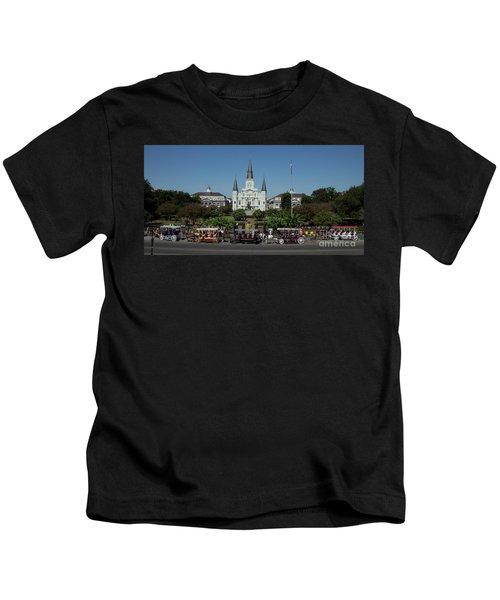 Saint Lewis Cathedral French Quarter New Orleans, La Kids T-Shirt