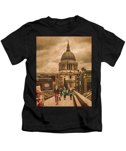 London, England - Saint Paul's In The City Kids T-Shirt