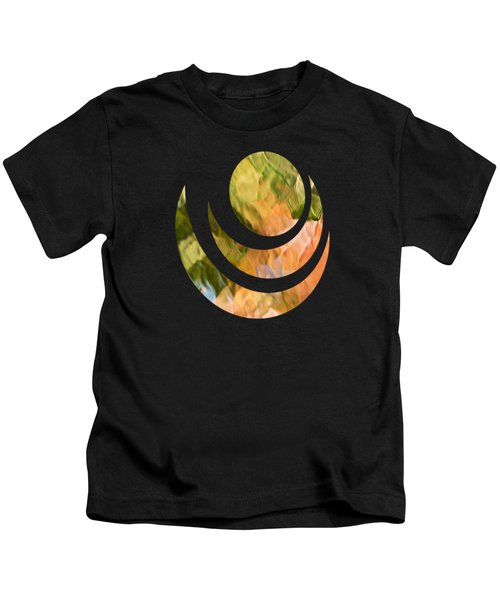 Salmon Mosaic Abstract Kids T-Shirt by Christina Rollo