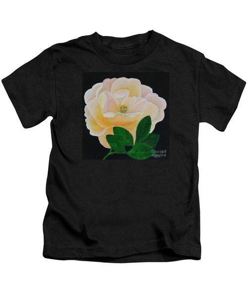 Salmon Pink Rose Kids T-Shirt