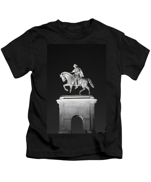 Sam Houston - Black And White Kids T-Shirt