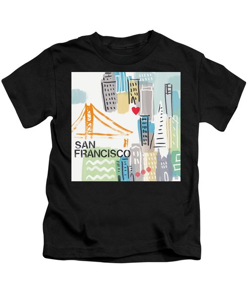 San Francisco Cityscape- Art By Linda Woods Kids T-Shirt