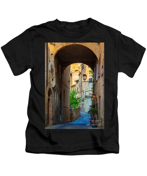 San Gimignano Archway Kids T-Shirt