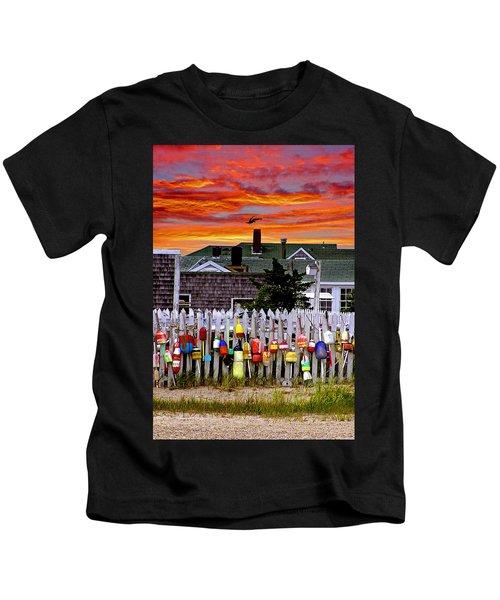 Sandy Neck Sunset Kids T-Shirt