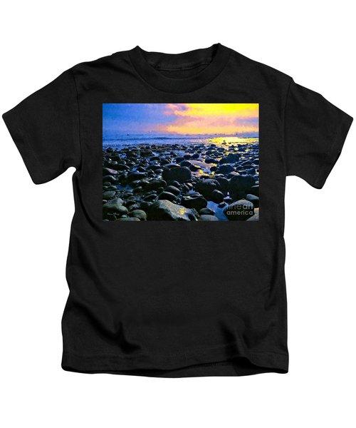 Santa Barbara Beach Sunset California Kids T-Shirt