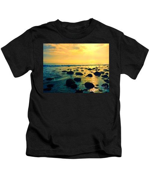Santa Barbara California Ocean Sunset Kids T-Shirt