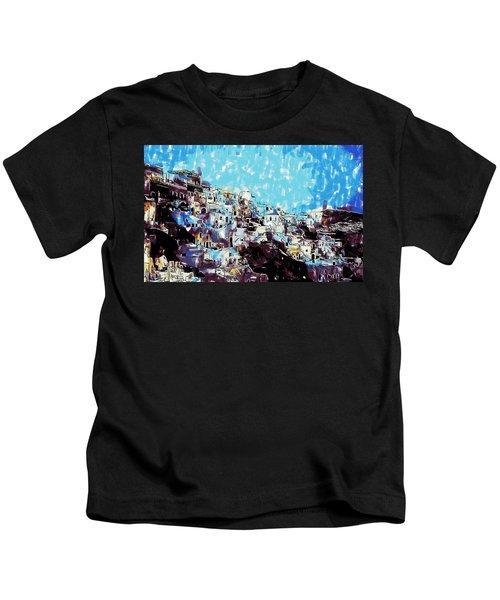 Santorini Island Kids T-Shirt
