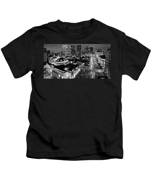 Sao Paulo Downtown - Viaduto Do Cha And Around Kids T-Shirt