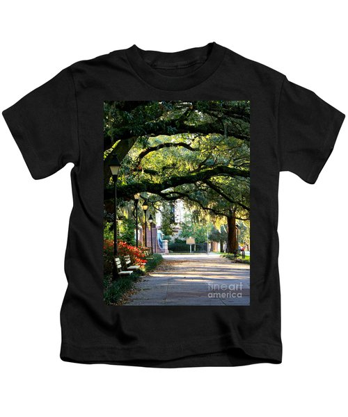 Savannah Park Sidewalk Kids T-Shirt