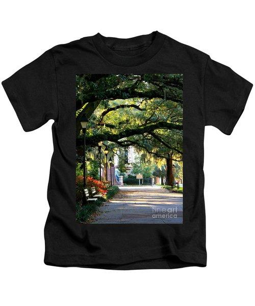 Savannah Park Sidewalk Kids T-Shirt