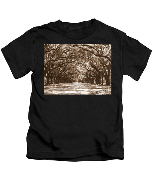 Savannah Sepia - Glorious Oaks Kids T-Shirt