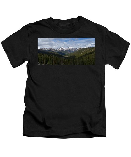 Sawatch Range Colorado Panoramic Kids T-Shirt