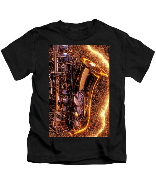 Sax With Sparks Kids T-Shirt