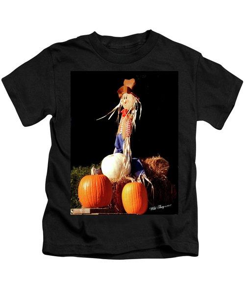 Scaredy Crow Man Kids T-Shirt