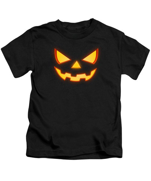 Scary Halloween Horror Pumpkin Face Kids T-Shirt
