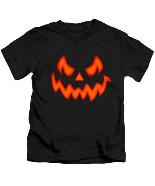 Scary Pumpkin Face Kids T-Shirt