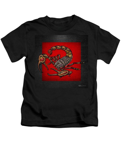 Scorpion On Red And Black  Kids T-Shirt