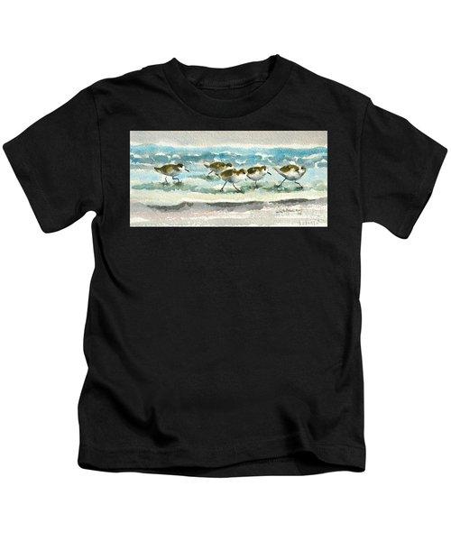 Scurrying Along The Shoreline 2  1-6-16 Kids T-Shirt