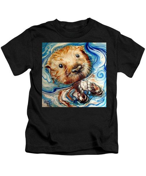 Sea Otter Swim Kids T-Shirt