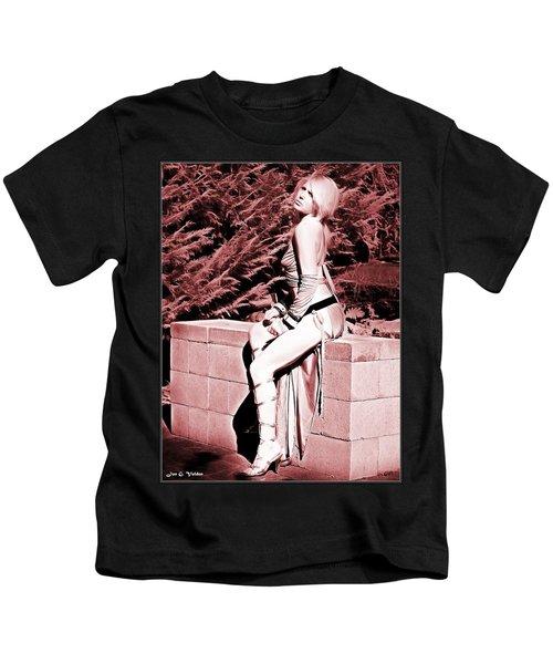 Seated Slave Girl Kids T-Shirt