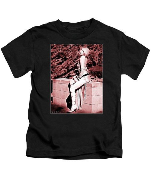 Seated Slave Girl Kids T-Shirt