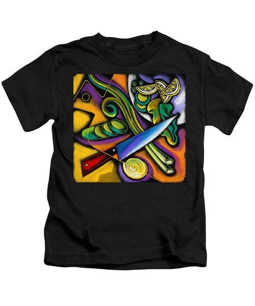 Tasty Salad Kids T-Shirt by Leon Zernitsky