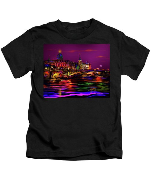 Seine, Paris Kids T-Shirt