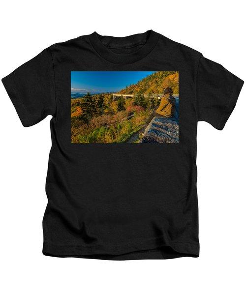 Seize The Day At Linn Cove Viaduct Autumn Kids T-Shirt