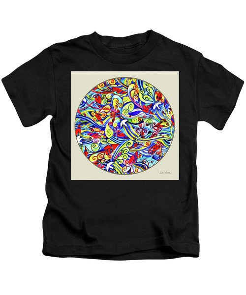 Semi Abstract Paintings Button Kids T-Shirt