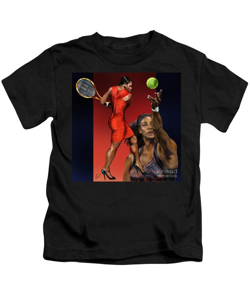 Sensuality Under Extreme Power - Serena The Shape Of Things To Come Kids T-Shirt by Reggie Duffie