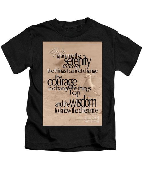 Serenity Prayer 04 Kids T-Shirt