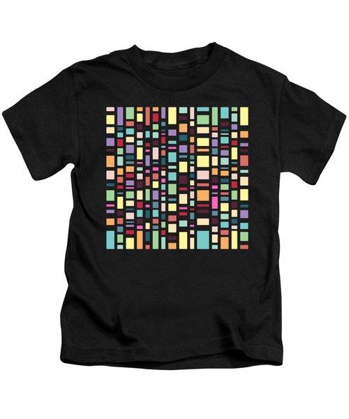 Seventeen Pattern Dark Kids T-Shirt