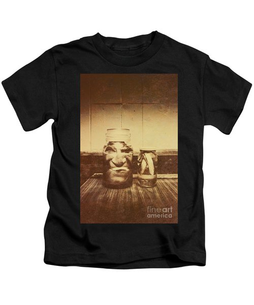 Severed And Preserved Head And Hand In Jars Kids T-Shirt