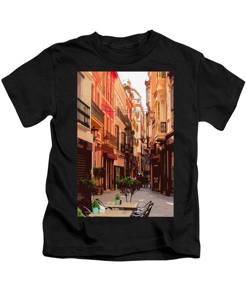 Seville, The Colorful Streets Of Spain - 02 Kids T-Shirt