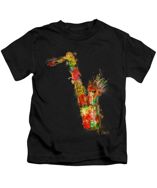 Sexy Saxaphone Kids T-Shirt