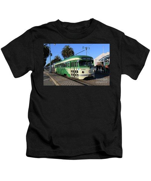 Sf Muni Railway Trolley Number 1006 Kids T-Shirt